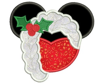 Christmas embroidery design - Princess embroidery - Machine embroidery design file - Instant download - 4x4 5x7 6x10 size