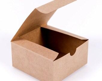 25 CAKE SLICE BOXES, Small Kraft Cake Favor Boxes, Wedding Favors, Baby Shower Favors, Favor Box, Treat Boxes, Party Favor Box, Dessert Box