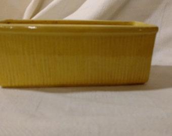 Vintage Retangle Yellow McCoy Planter