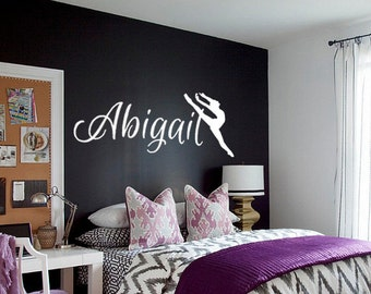 Dance Wall Decal Etsy - Custom vinyl wall decals dance