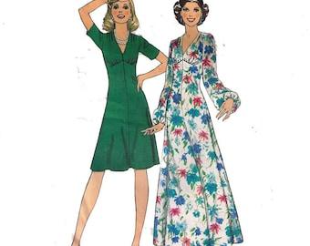 Style 4917, Sewing Pattern, Size 16 Bust 38 Women's Dress Fit and Flare, Dress Pattern V Neck, Fit and Flare Maxi Dress