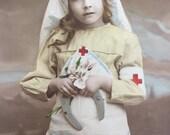Vintage Postcard * Young WW1 Red Cross Nurse