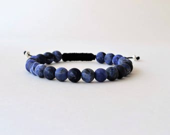 Bracelet Brazilian Sodalite - Bracelet perles semi-précieuses homme