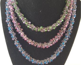 Shaggy Loop Beaded Chainmaille Necklace (available in different colors)