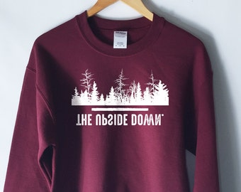 The Upside Down Sweatshirt - Hawkins Middle School AV Club Sweatshirt - Stranger Things Shirt - Stranger Things Tee - Jumper - Eleven Hopper