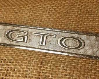 Vintage GTO Dash Emblem 1960 early 1970 Pontiac Original Chrome Piece Classic Car Collector Muscle Car Memorabilia Automobile Memorabilia