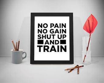 No pain no gain  Etsy