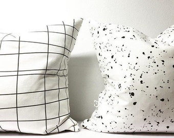 Gridlock Linen Cushion Cover