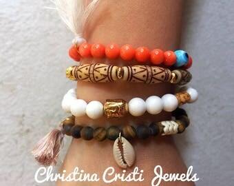 Boho Bracelets Women, Bohemian Bracelets, Ethnic Bracelets, Women's Jewelry, Gift for Her, Made in Greece by Christina Christi Jewels.