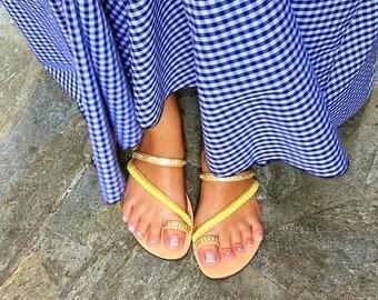 Leather Sandals Women, Greek Sandals, Summer Sandals, Flat Sandals, Handmade Sandals, Made In Greece by Christina Christi Jewels.