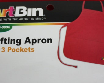 Apron With Pockets Red Crafting Apron By Art Bin Decorate Your Own Apron