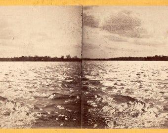 "1871 Niagara River, ""Burst of Sunshine"" E.&H.T. Anthony Stereoview Photo"