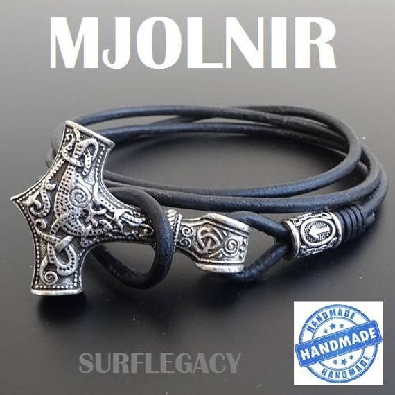 Mjolnir mjolnir bracelet bracelet viking marteau de thors - Rune viking traduction ...