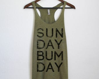 Sunday Bum Day Tank Top - Lazy Sunday Shirt