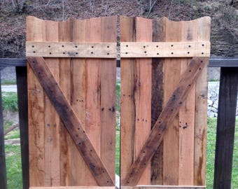 Rustic Reclaimed/Pallet Wood Saloon Doors, Bigger Size Now Available!