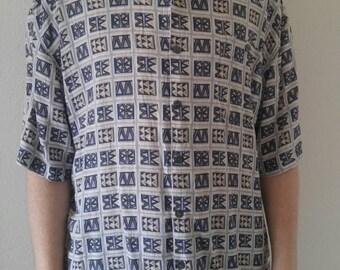 Vintage Summa Blue Dress Shirt