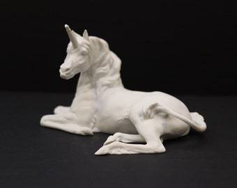RARE Kaiser Unicorn Figurine, white Fine Porcelain, Made in West Germany, SEE Condition note, gifts for her, gifts for mom,