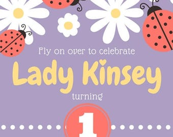 A Party Fit For A Ladybug Invitation - CUSTOMIZABLE