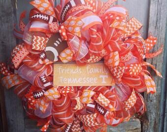 Vols Wreath, Tennessee Wreath, Custom Wreath, UT Vols, Tennessee, Tennessee Football, University of Tennessee, Tennessee Vols