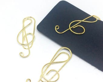Music Note Paper Clip Treble Clef 3 Pack