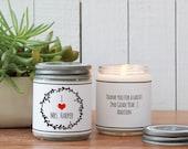 I Love My Teacher Soy Candle - Teacher Gift | Gift for Teacher | End of Year Gift | Teacher Appreciation Gift