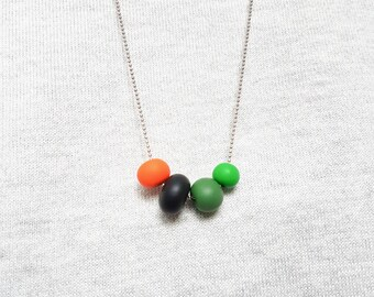 Orange necklace, Green necklace, Black necklace, Multicolor necklace, Casual necklace, Geometric necklace, Boho necklace, Chunky necklace