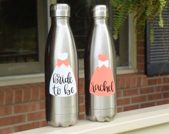 Bridal Party Swell Bottles Bridal Party Waterbottles Bridal Party Customized Bottles Will You Be My Bridesmaid
