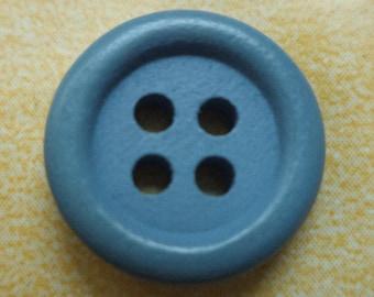 Wood buttons 9 wooden buttons blue 15 mm (6792)