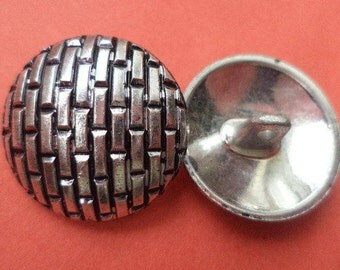23 mm (6014) metal buttons 6 metal buttons silver