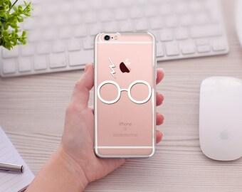 Harry Potter Eye Glasses Phone case, Harry Potter Lightning,Harry Potter Lovers ClearTransparent  6/6s 6splus/6plus, iPhone 5/5s/SE, 7/7Plus