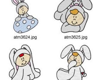 Bunny-Babies ( 7 Machine Embroidery Designs from ATW ) XYZ17C