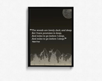 Robert Frost Quote Framed