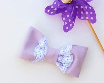 Purple Lace Bow