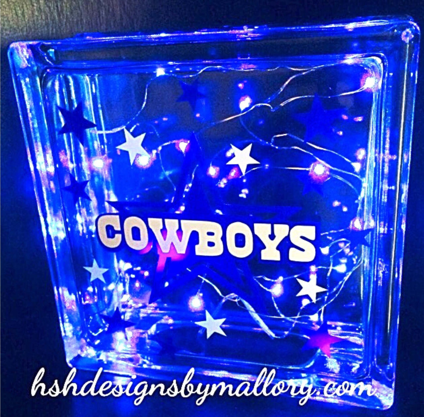 lighted home decor hshdesignsbymallory cowboys light box glass lighted block