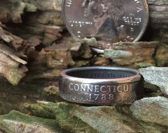 Connecticut state quarter coin ring