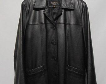 Vintage Black Lakeland Leather Jacket