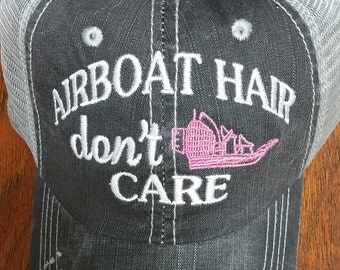 Airboat & Bay Hair don't Care Hat