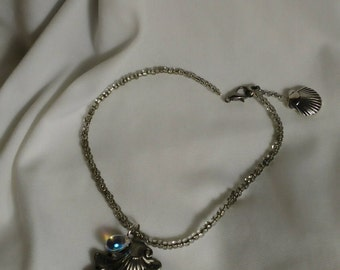 """9"""" Anklet with Sea Theme  #1"""
