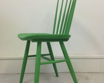 SOLD Chair wooden chair in green
