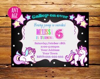 Unicorn Invitation,Unicorn Birthday Invitation,Unicorn Invite, Pony Invitation,Printable Invitations,1st 2nd 3rd 4th 5th 6th 7th kids party