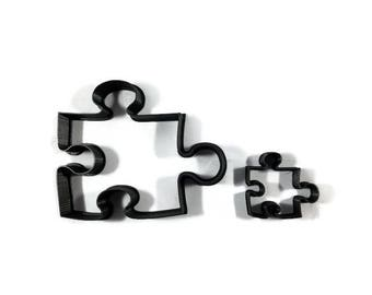 Puzzle Piece Cookie Cutter Style 2 - Jigsaw Puzzle Fondant Cutter - Puzzle Cupcake Topper