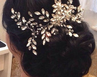 Crystal Hair Comb Bridal Hair Comb Wedding Hair Comb Bridal Comb Bridal Headpiece Crystal Headpiece Bridal Hair piece Wedding Hair piece