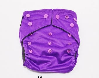 Cloth Diapers, Cloth Diaper Pattern, One Size, All in one, Modern, Bamboo, Nappies, Baby Diaper, Baby Diaper Cover, Purple