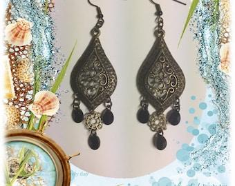 Brass Filigree Earrings