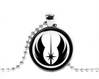 Jedi Order Necklace Jedi Order Symbol Pendant Star wars Round Pendant Fandom Jewelry Geeky Fangirl Fanboy