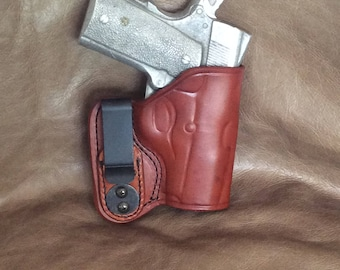 """Kimber 1911 Concealed Inside the Waistband (IWB) 3"""" Leather Holster"""