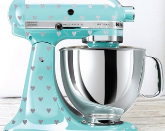 Glitter Heart Polka Dot Kitchen Mixer Decals