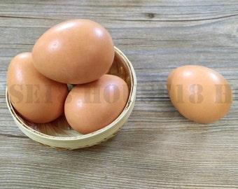 12 Wood Egg Life Sized Wooden Egg Painted Wood Egg Chicken Egg Hen Egg Easter Egg DIY Easter Craft Easter Decor