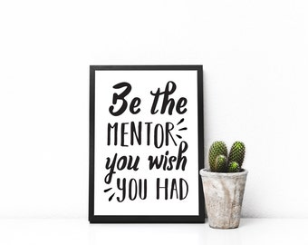 Mentor Printable - Mentor Gift - Gift For Mentor - Mentor Wall Art - Mentor Decal - Professor Gift - Teacher Gift - Mentor Gifts Digital