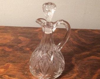 Blown and Pressed Glass Cruet - Antique Cruet